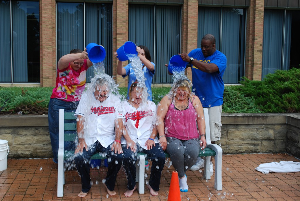 The Student Senate hosted LCCC's own ALS Ice Bucket challenge during the All Campus picnic on Aug. 29. Students, faculty and the community were invited to join in the challenge by submitting themselves to a drenching of ice water.
