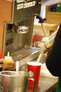 Starbucks keeps up with the coffee demand during cold weather and finals. Karl Schneider | The Collegian
