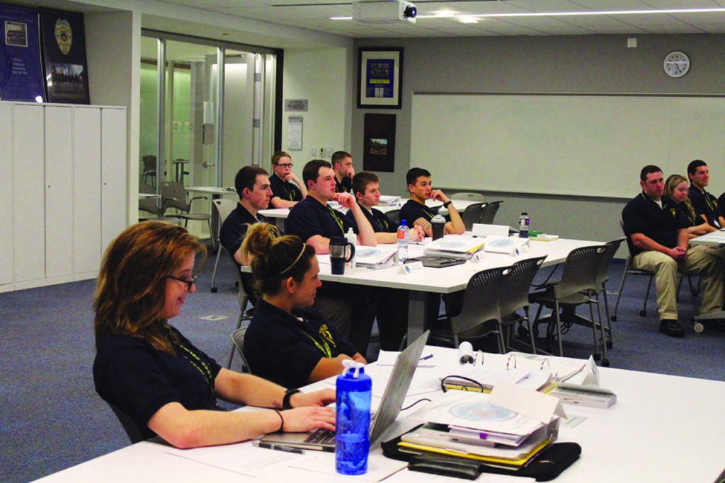 LCCC Police Academy students attend the program Monday through Friday, 8 a.m. to 5 p.m.    Kim Teodecki | The Collegian