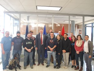 LCCC veterans with Col. Chip Tansill.