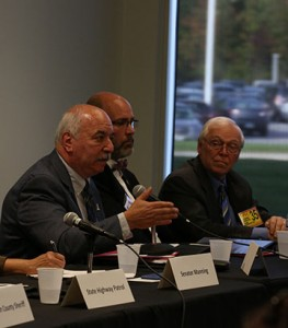 Michael Flanigan | The Collegian Lorain Police Chief Cel Rivera (left), and LCADA President Tom Stuber (right) speak to the community about the area's heroin crisis.